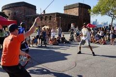 2015 het Festivaldeel 3 58 van NYC Unicycle Royalty-vrije Stock Afbeeldingen
