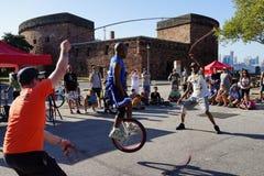2015 het Festivaldeel 3 63 van NYC Unicycle Royalty-vrije Stock Afbeelding