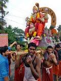 Het festivaloccation van de Chenda melam @ Tempel Royalty-vrije Stock Foto's