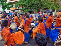 Het festivaloccation van de Chenda melam @ Tempel Royalty-vrije Stock Foto