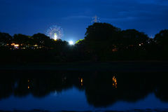 Het Festivalritten van het Eiland Wight bij Nacht Royalty-vrije Stock Foto