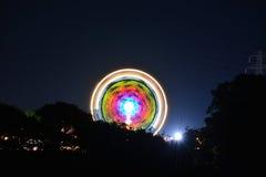 Het Festivalritten van het Eiland Wight bij Nacht Stock Fotografie