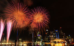 Het festivalviering van het vuurwerk Royalty-vrije Stock Afbeeldingen