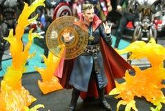 Het fictieve cijfer van de karakteractie Dr. Strange van Wonderstrippagina & films royalty-vrije stock foto's