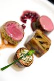 Het fijne dineren - Voorgerechten Stock Foto's