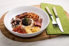 Het fijne dinning in Ierland met Iers ontbijt royalty-vrije stock foto's