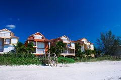 Het fijne Florida strand leven stock foto