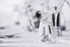 Het fijne Plaatsen van de Eettafel Royalty-vrije Stock Afbeeldingen
