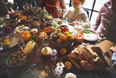 Het fijngestampte Concept van Aardappelrosemary pepper thanksgiving table setting royalty-vrije stock foto's