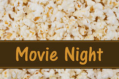 Het is Filmnacht Stock Foto