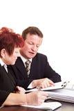 Het financiële adviseur verklaren stock foto's