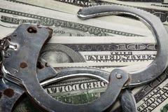 Het financiële concept van de Misdaad en van de Corruptie stock foto's
