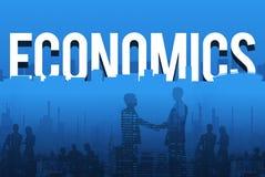 Het financiële Concept van het de Dollarteken van Economieactiva Royalty-vrije Stock Foto