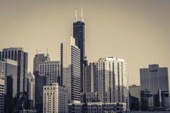 Het financiële district van Chicago stock foto
