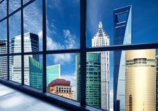 Het financiële district van China Shanghai Lujiazui Stock Afbeeldingen