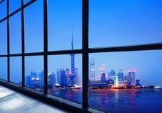 Het financiële district van China Shanghai Lujiazui Royalty-vrije Stock Afbeelding