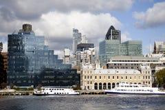 Het Financiële District van de Stad van Londen Stock Afbeeldingen