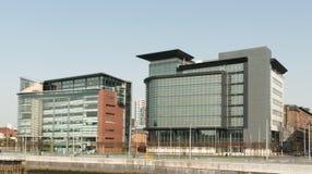 Het financiële district van Glasgow Stock Foto