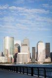 Het Financiële District van Manhattan van de stad van Jersey Stock Foto