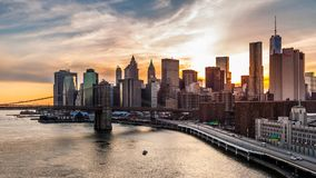 Het Financiële District van New York (timelapse) stock video
