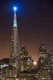 Het Financiële District van San Francisco bij nacht Stock Foto
