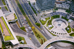 Het financiële district van Shanghai van de Oosterse Parel Towe Stock Afbeelding