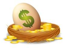 Het financiële Ei van het Nest Stock Afbeeldingen