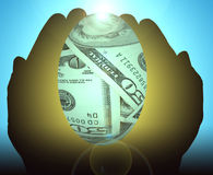 Het financiële Ei van het Nest royalty-vrije illustratie