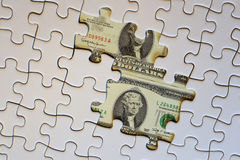 Het financiële raadsel Stock Foto's