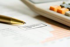 Het financiële werk. stock fotografie
