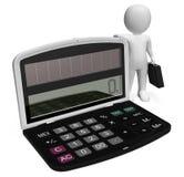 Het financiënkarakter toont de Zaken 3d Person And Illustration uittrekken Stock Foto
