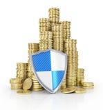 Het financiële concept van de verzekerings en bedrijfsstabiliteit Royalty-vrije Stock Afbeeldingen