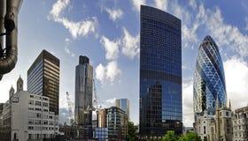 Het financiële district van Londen Royalty-vrije Stock Afbeelding