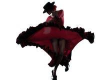 Het flamenco dansende danser van de vrouwenzigeuner Stock Afbeeldingen
