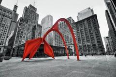 Het Flamingobeeldhouwwerk Chicago royalty-vrije stock afbeeldingen