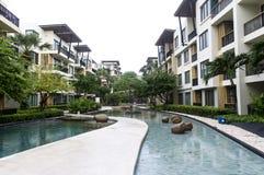 Het Flatgebouw met koopflats Hua Hin, Thailand van Baansansuk stock fotografie