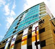 Het Flatgebouw met koopflats van de binnenstad Royalty-vrije Stock Foto's