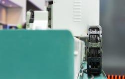 het flexibele detail van het het dienblad bewegende mechanisme van de machts trak draad Stock Afbeelding