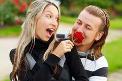 Het flirten stock afbeelding