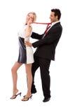 Het flirten royalty-vrije stock fotografie