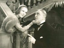 Het flirten met haar suikerpapa royalty-vrije stock foto