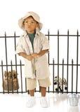 Het fluiten Zookeeper royalty-vrije stock fotografie