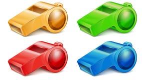 Het fluitje van de kleur Stock Foto