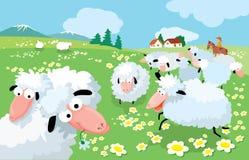 Het fokken van schapen royalty-vrije illustratie