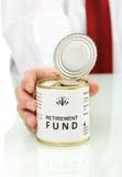Het fondsenconcept van de pensionering Stock Afbeelding