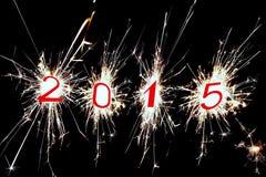 2015 het Fonkelen cijfers Stock Afbeelding