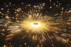 Het fonkelen Diwali Chakra Stock Afbeeldingen