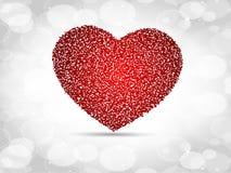 Het fonkelen rode gemaakte hartvorm Royalty-vrije Stock Fotografie