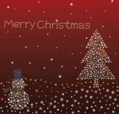 Het fonkelen Rode Kerstmis Royalty-vrije Stock Afbeeldingen