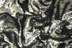 Het fonkelen sequined stoffentextuur royalty-vrije stock afbeelding